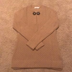 Tory Burch Camel tunic sweater, size S